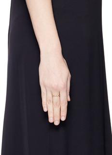 Jo Hayes Ward 'Single Hex' diamond 18k yellow gold ring