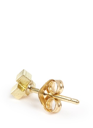 Detail View - Click To Enlarge - Jo Hayes Ward - '3 Cube Grid' 18k yellow gold stud earrings