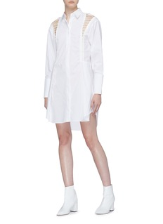 Dion Lee Lace-up shoulder shirt dress