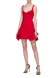 Dion Lee Drape panel virgin wool blend bustier dress