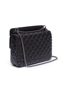 Valentino 'Rockstud Spike' heart embellished medium quilted leather crossbody bag