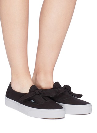Vans Authentic Knotted Canvas Skate Slip Ons Women