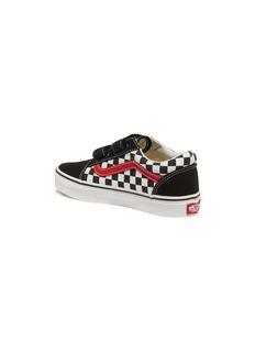 Vans 'Old Skool V' checkerboard kids sneakers