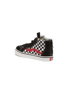 Vans 'Sk8-Hi Zip' checkerboard toddler sneakers