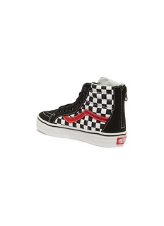 Vans 'SK8-Hi Zip' checkerboard kids sneakers