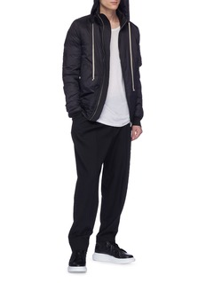 Rick Owens Retractable hood puffer bomber jacket