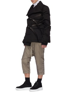 Rick Owens Drop crotch padded cropped jogging pants