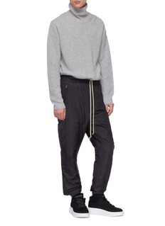 Rick Owens Drop crotch padded track pants