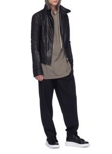 Rick Owens Panelled shoulder hoodie