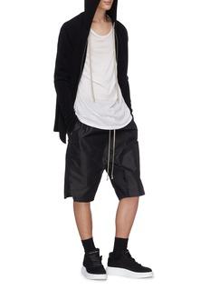 Rick Owens Wool blend zip hoodie