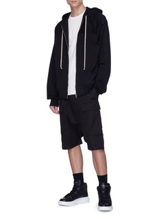 Rick Owens Panelled shoulder long sleeve T-shirt