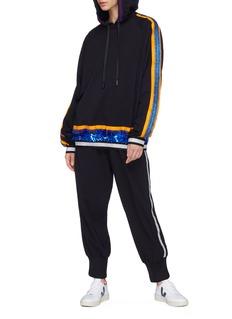 No Ka'Oi 'Waena' paillette stripe hoodie