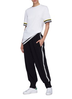 No Ka'Oi 'Ano E' metallic stripe outseam jogging pants