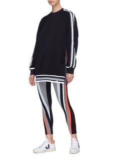 No Ka'Oi 'Hau' stripe sleeve raglan sweatshirt