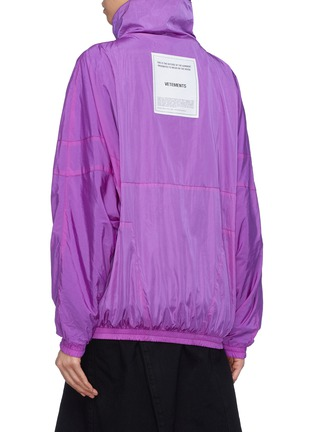 Back View - Click To Enlarge - Vetements - 'Angel' zip pull stand collar unisex track jacket