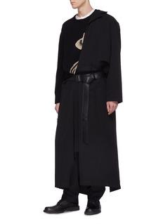 Yohji Yamamoto Belted wool twill coat