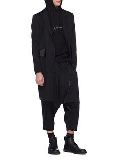 Yohji Yamamoto x New Era logo embroidered hoodie