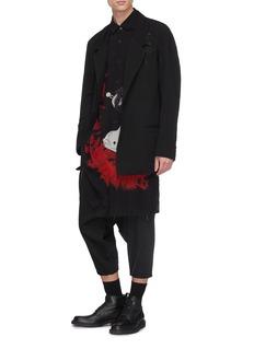 Yohji Yamamoto Geisha print long shirt