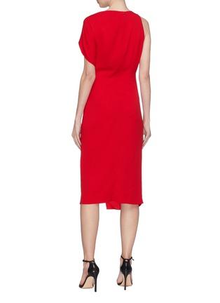 Back View - Click To Enlarge - Dion Lee - Twist cutout yoke drape crepe dress