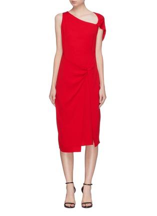 Main View - Click To Enlarge - Dion Lee - Twist cutout yoke drape crepe dress