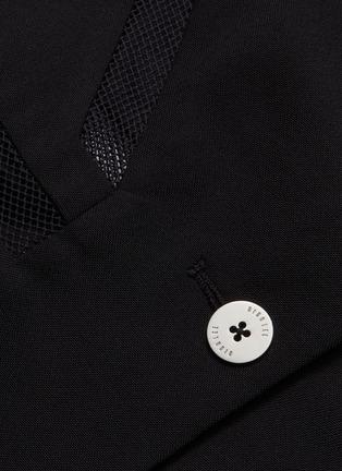 - Dion Lee - Mesh panel wool blazer