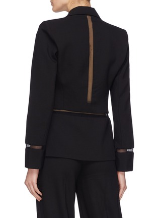 Back View - Click To Enlarge - Dion Lee - Mesh panel wool blazer