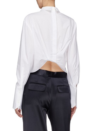 Back View - Click To Enlarge - Dion Lee - Twist back hem shirt