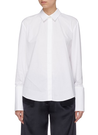 Main View - Click To Enlarge - Dion Lee - Twist back hem shirt