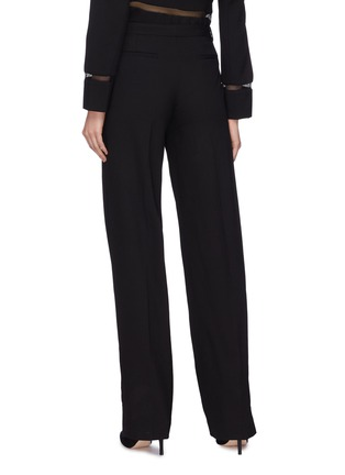 Back View - Click To Enlarge - Dion Lee - Mesh stripe outseam wool suiting pants