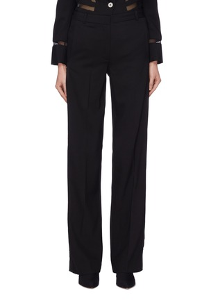Main View - Click To Enlarge - Dion Lee - Mesh stripe outseam wool suiting pants