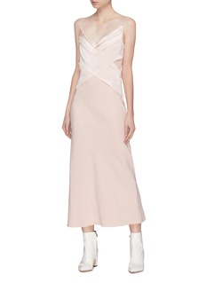Dion Lee Crossover panel Mulberry silk slip dress