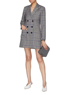 Tibi Tartan plaid blazer dress