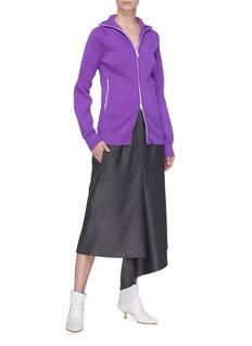 Tibi Stand collar rib knit track jacket