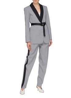 Tibi Belted houndstooth tuxedo blazer
