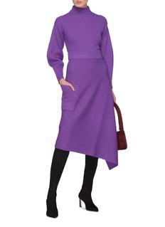 Tibi Cocoon sleeve Merino wool rib knit sweater