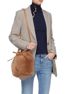 Mansur Gavriel 'Mini' shearling bucket bag