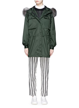 Main View - Click To Enlarge - AREA - Fur trim dot embossed parka