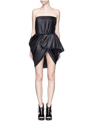 Main View - Click To Enlarge - DICE KAYEK - Made-to-Order<br/><br/>Plissé pleat strapless tulip dress