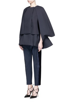 Figure View - Click To Enlarge - DICE KAYEK - Made-to-Order<br/><br/>'Jumbo' ruffle pleat crepe cape