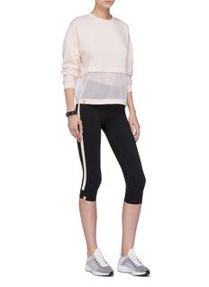 Monreal London 'Athlete' stripe outseam performance leggings