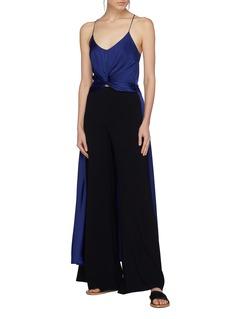 Caroline Constas Twist front silk high-low camisole top