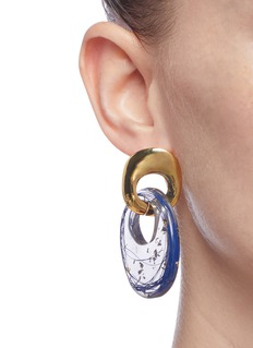 Ejing Zhang 'Finn' interlocking hoop drop earrings
