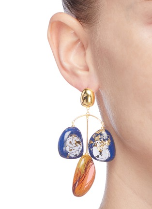 Figure View - Click To Enlarge - Ejing Zhang - 'Patter' chandelier earrings