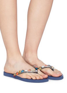 Uzurii 'Daisy' crystal thong sandals