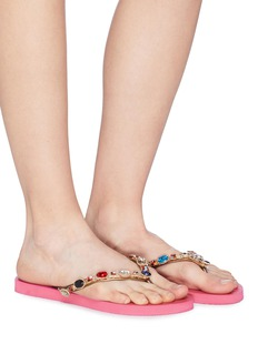 Uzurii 'Colorful Romy' crystal thong sandals
