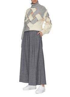 The Keiji Colourblock cutout lattice wool turtleneck sweater