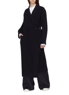 Jil Sander Virgin wool melton wrap coat