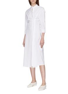 Jil Sander Convertible button front shirt dress