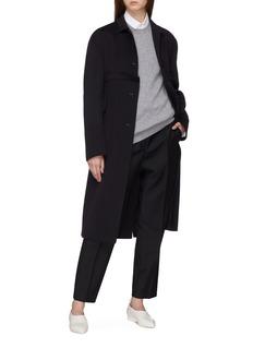 Jil Sander Wool-mohair twill cropped pants