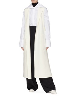 Jil Sander Belted back long virgin wool melton vest